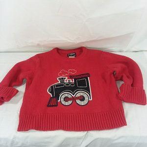 Oshkosh Baby Boy Sweater Polar Train 2T